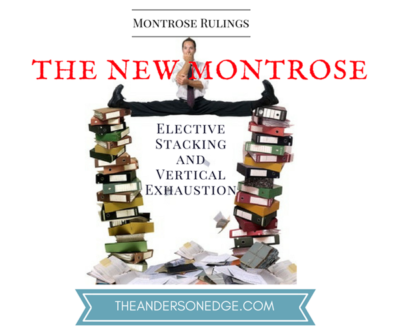 Montrose Ruling-Elective Stacking and Vertical Exhaustion Article