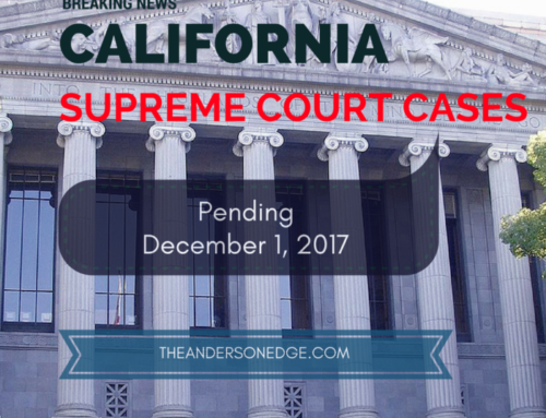 California Supreme Court Cases (Insurance) Pending December 1, 2017