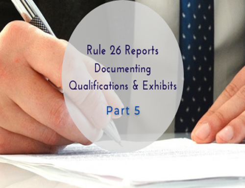 Rule 26 Report Documenting Qualifications & Exhibits Part 5